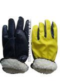 Прокатанная нитрилом польностью акриловая перчатка зимы вкладыша кучи