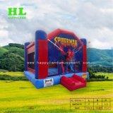スパイダーマンの主題の跳躍の家の弾力がある城の膨脹可能な警備員