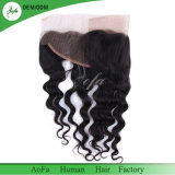 Natural Black Indian Virgin Human Hair Laces Frontal with Pre Plucked