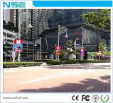 Réverbère Pôle 3G, WiFi annonçant le signe extérieur de Pôle de drapeau de l'Afficheur LED P6