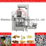 Pasas de uva Empaquetadora automática de bolsa de la cremallera Rotary máquina de embalaje