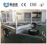 Reboque galvanizado do caminhão de descarga do reboque/trator da caixa