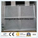 Panneau provisoire portatif de frontière de sécurité de construction de fil à chaînes galvanisé par qualité