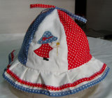 Nuovo cappello della protezione di pesca del denim del ricamo dei bambini di modo
