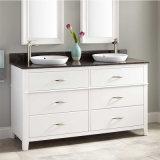 Usa modulares prefabricados de madera maciza Muebles de baño Cuarto de baño vanidad