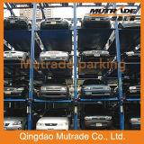Гидравлический многоуровневой автомобильной стоянки укладчика четыре подъемника в гараже после подъема