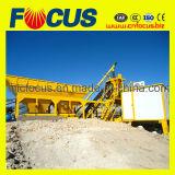 precio de fábrica, planta de procesamiento por lotes concretos Yhzs25 Planta mezcladora de concreto móvil