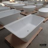 Forma moderna de los 1800mm de piedra acrílica de bañera de patas