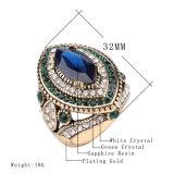De gouden Ring van de Manier van het Kristal 2017 van het Mozaïek van de Kleur Groene Nieuwe