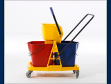 2-Bucket Wringer Trolley para Cleaning Mop (YG-073)