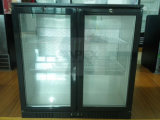 Refrigerador de vidro do Backbar da porta dobro