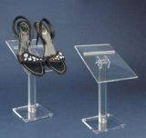 L'acrylique clair fait sur commande en gros d'étage chausse des présentoirs