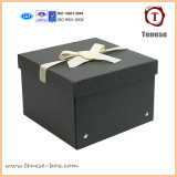 Noir 2mm Thickness Paper Card Storge Box avec Rivet