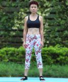 女性のスポーツのレギングの試しのLegginsのズボンの適性の高いウエストの伸縮性がある女性のレギング