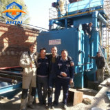 Nettoyage de plaque en acier grenaillage/Blast Machine avec convoyeur à rouleaux