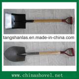 Pala de madera del acero de la maneta de la herramienta agrícola