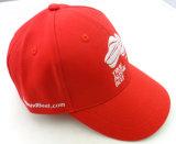 Firmenzeichen gestickte Panel-Golf-Schutzkappe des Rot-6