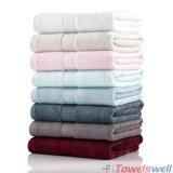 O luxo de marfim 100% toalha de mão de bambu
