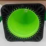 """28"""" verde limão EUA preto padrão de tráfego de PVC da base do cone de segurança"""