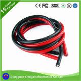 Fio de borracha da alta temperatura da isolação do silicone de UL3239 UL3135 16AWG