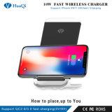Cheapest 10W Qi Wireless Smart/móvil/celular soporte de carga rápida/pad/estación/soporte/cargador para iPhone/Samsung