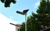 Tudo em um painel solar de controle de telefone luzes da rua (SNF-240)