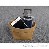 Waschbarer Papierbeutel Brown große oder kleine waschbare Kraftpapier-Papiertüten