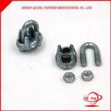 U. S Tipo de hardware de rigging maleable Abrazaderas de Cable/Cable clips