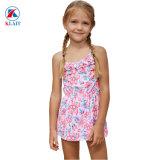 Blue Pink Ruffles multicouche Toddler filles nager robe maillot de bain Tankini