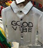 Los chicos de color blanco de Manga Larga Camiseta Logo Handfeel suave de algodón 100%