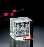 Cristal laser 3D, la Chine de sulfure de cristal, K9 Crystal, bloc de cristal, Crystal Cube. Cadeaux de cristal, de sulfure de cristal