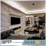 Revêtement de marbre blanc de panneau de mur en pierre de Volakas