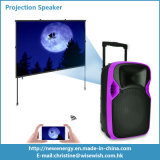 Sistema de PA de plástico Speaker Portable LED Projection Audio Equipment