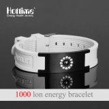 Bracelet en acier inoxydable plaqué noir avec bande magnétique pour multicolore