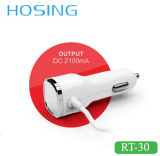Chargeur duel personnalisé de véhicule du chargeur USB de logo rapidement avec le logo de DEL