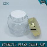 120g 4ozは表面クリームのためのねじ上のふたが付いているガラス瓶を取り除く