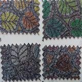 Floral Design Glitter Leather para Pacote Hw-473