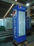 Supermercado vertical do Refrigerador Vertical com luz de LED