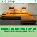 居間の家具の現代本革のソファーベッド