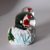 두 배 지구를 가진 Polyresin 크리스마스 산타클로스 눈 지구