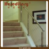 Railing балкона для напольных перил провода кабеля нержавеющей стали шагов (SJ-H073)