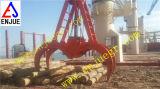 A garra de madeira da madeira do descarregador do navio de quatro cordas luta a garra hidráulica da madeira