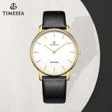 Timesea Edelstahl-Form-Dame Mens Quartz Armbanduhr 72858