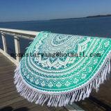 Katoen om de Handdoek van het Strand van de Cirkel met Uitstekende kwaliteit wordt afgedrukt die