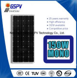 Mono comitato solare di alta qualità 150W e prezzo più basso