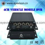 3G GPS/4チャネルリアルタイムH. 264サポートDVR SD携帯用車の可聴周波チャネル番号1d1 CIFリアルタイム記録および最大値128gハード・ドライブ1000 GBの
