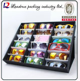Caso di visualizzazione di cuoio di cuoio del MDF Eyewear del banco di mostra di vetro per gli occhiali da sole Cina (X032) di Eyewear della vigilanza dei monili