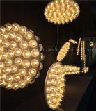 Éclairage pendant moderne en verre DEL pour la décoration de pièce
