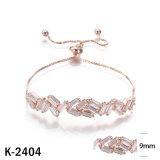 Zilveren Juwelen 925 van de manier namen de Gouden Armbanden van CZ toe