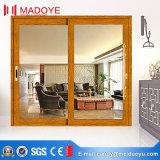 Мода Деревянные зерна сдвижной двери для гостиной
